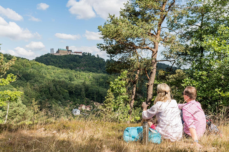 Panorama-Blick Wartburg – Wanderwege bei Eisenach